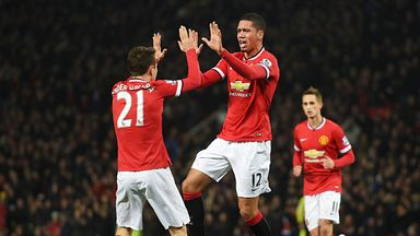 Chris Smalling scored twice against Burnley during Wednesday