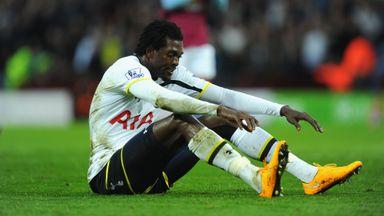 Emmanuel Adebayor: The Spurs striker scored just two goals last season
