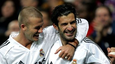 David Beckham: The former England captain has thrown his support behind Luis Figo