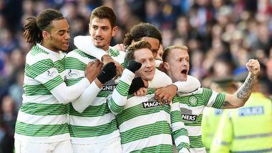 Kris Commons: Celebrates scoring Celtic's second goal