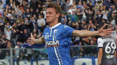 Daniele Rugani celebrates