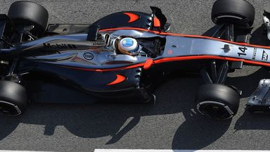 Fernando Alonso at the wheel of the MP4-30
