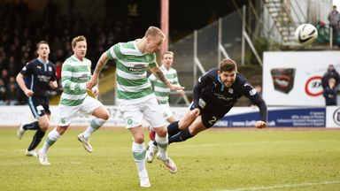 Celtic striker Leigh Griffiths (left) opens the scoring for the visitors at Dundee, Scottish Cup