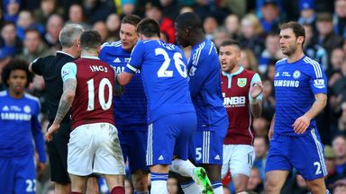Nemanja Matic reacts furiously to Ashley Barnes challenge