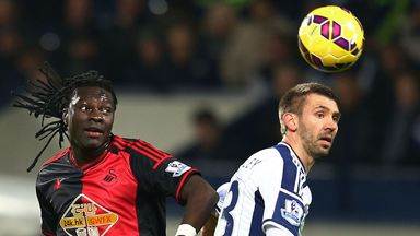 Gareth McAuley (right): The defender has has made 138 appearances in his four years at The Hawthorns