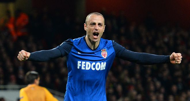 Berbatov scored Monaco's second as they stunned Arsenal