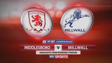 Middlesbrough 3-0 Millwall