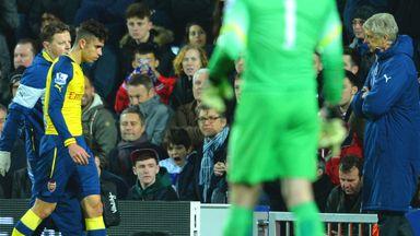 Gabriel: Picked up hamstring injury during win at QPR