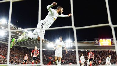 Ashley Williams: Swansea defender clears off the line against Southampton