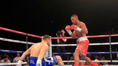 Kell Brook knocks down Jo Jo Dan in Sheffield (Image: Lawrence Lustig)