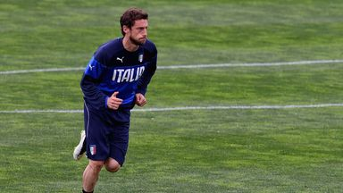 Claudio Marchisio: Midfielder trains with Italy on Friday