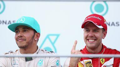 Sebastian Vettel beat Lewis Hamilton to victory