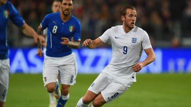 Harry Kane made his first senior England start in Italy on Tuesday