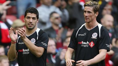 Torres: played up front with Suarez at Anfield