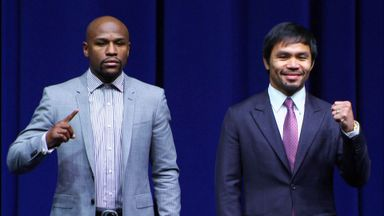 Mayweather believes Pacuqiao was shocked by his size when they accidentally met for the first time earlier this year