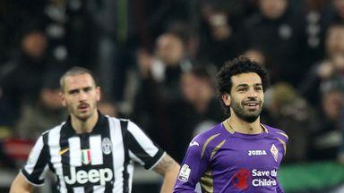 Mohamed Salah goal celeb, Juventus v Fiorentina, Coppa Italia