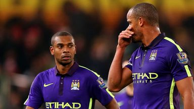 Fernandinho  was dropped along with Vincent Kompany for Manchester City