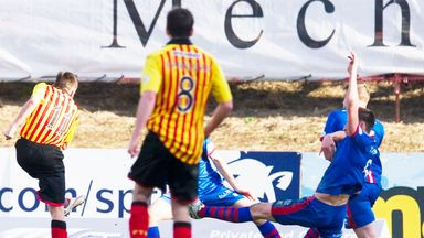 Steven Lawless scores Partick's late winner against Inverness Caley