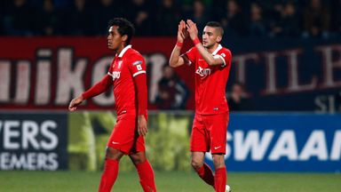 Hakim Ziyech (R) and Renato Tapia both scored for Twente.