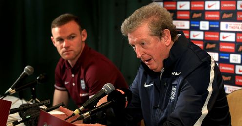 Wayne Rooney (left): Wants Roy Hodgson to stay on as England boss
