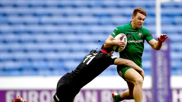 Alex Lewington: Scored a brace of tries for Irish