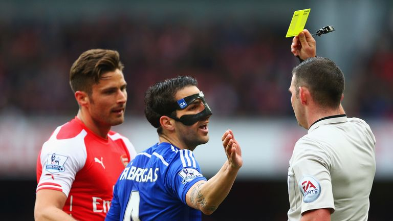 Cesc Fabregas had to wear a mask for a part of last season