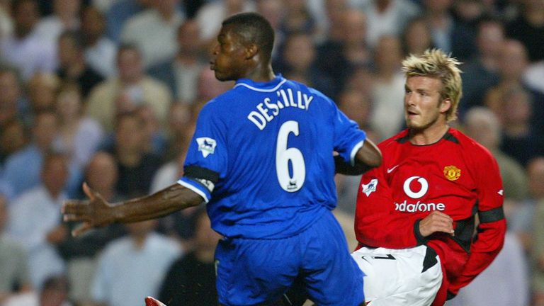 Beckham curled in against Chelsea in 2002