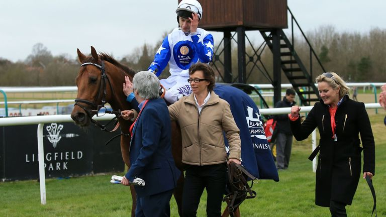 Kelleway, right, has overseen more than 600 winners in her career as a jockey and trainer