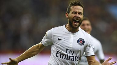 Yohan Cabaye started just 13 Ligue 1 games for PSG last season
