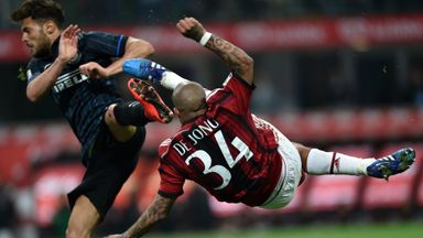 AC Milan and Inter Milan drew a blank at the San Siro