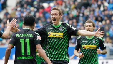 Joy for Borussia Monchengladbach players on Saturday