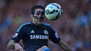 Cesc Fabregas: Forced to wear a protective mask due to nose injury