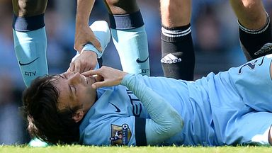 David Silva: Manchester City midfielder was hurt against West Ham