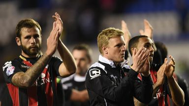 Eddie Howe and his Bournemouth players