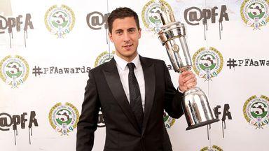 Eden Hazard wins the PFA Player of the Year award