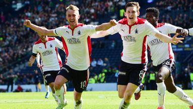 Falkirk's Craig Sibbald celebrates after scoring
