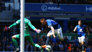 James McCarthy: Scores for Everton against United
