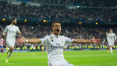 Javier Hernandez: Took his chance with Karim Benzema out injured