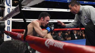Julio Cesar Chavez Jr tries to recover after ninth round knockdown against Andrzej Fonfara