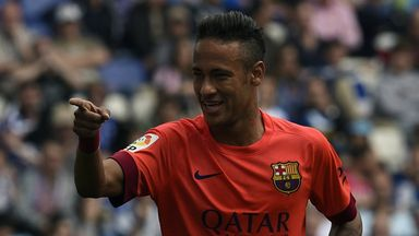 Neymar: Scored the first as Barcelona eased to victory over Espanyol