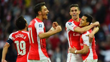 Arsenal celebrate reaching a record 19th FA Cup final