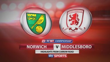 Norwich 0-1 Middlesbrough