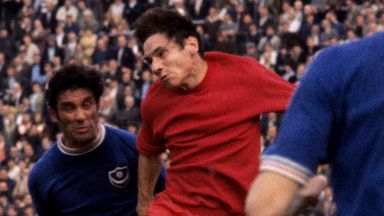 Ray Treacy (centre) in action for Charlton in 1969