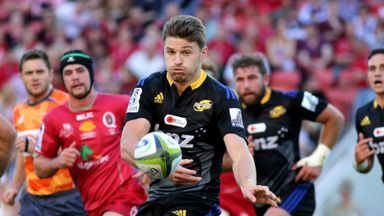 Beauden Barrett: Kicked 15 points in Brisbane to become the highest points scorer for the Hurricanes