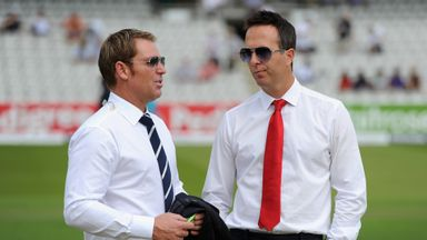 Shane Warne with Michael Vaughan: The Australian gives his tips for the 2015 IPL season