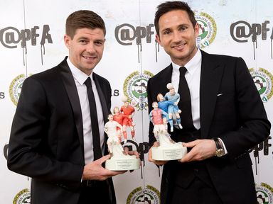 Steven Gerrard and Frank Lampard with PFA awards