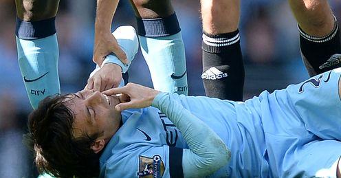 David Silva: Manchester City midfielder was hurt against West Ham