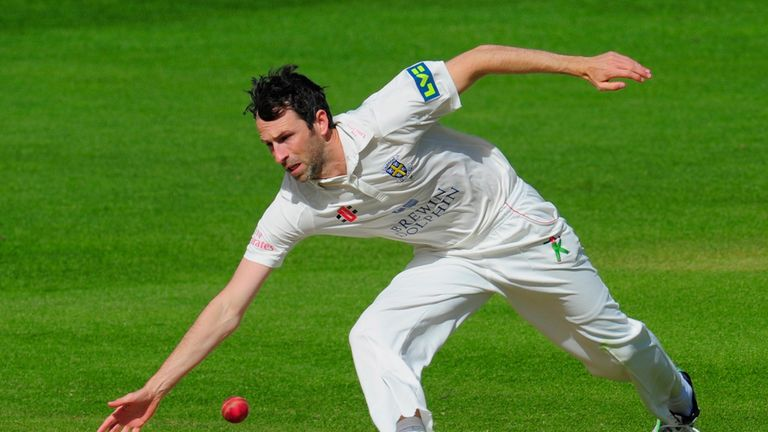 Durham bowler Graham Onions: Has enjoyed a lively start to the day