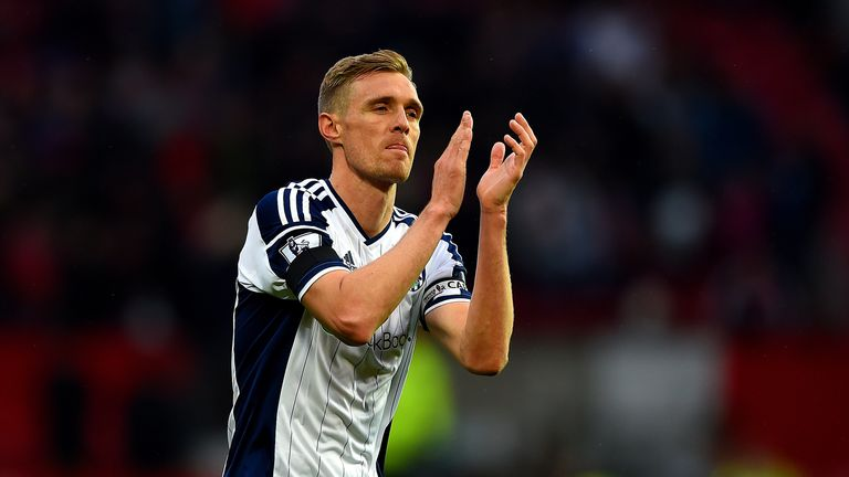 Darren Fletcher applauds the West Brom fans at Old Trafford