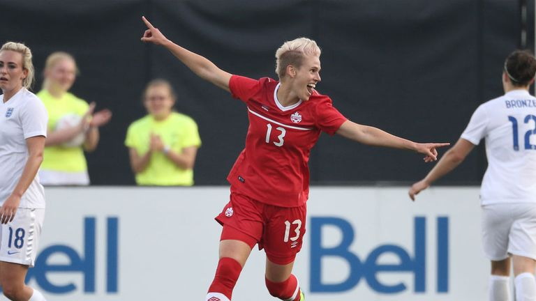 Sophie Schmidt scored the winner for Canada against England in a friendly in May